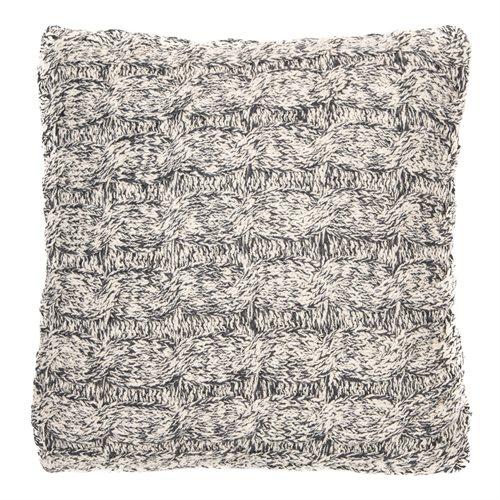Bertrand grey knitted cushion