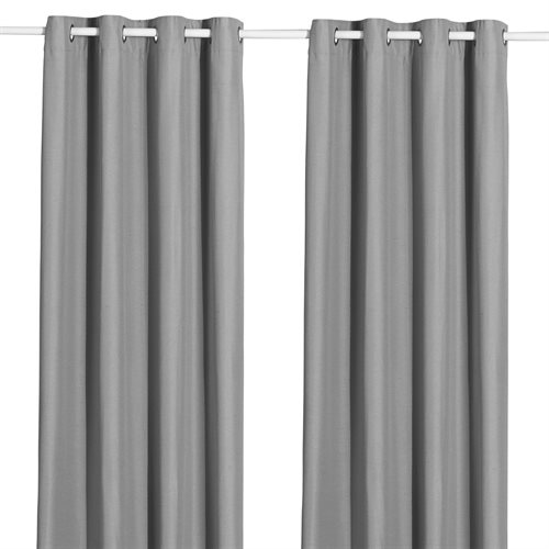 Bryan opaque grey curtain with grommets