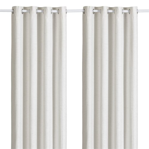Bryan opaque ivory curtain with grommets