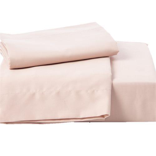 Ensemble de draps Chantilly rose pâle