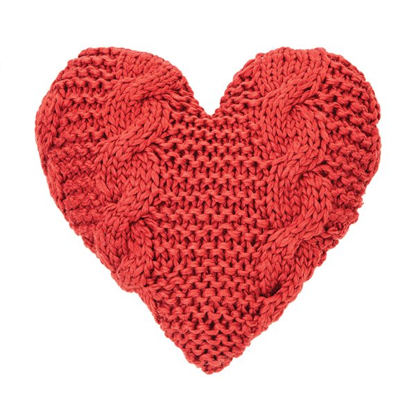 Cinnamon red heart cushion