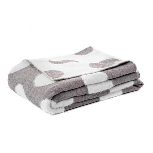 Dots grey throw