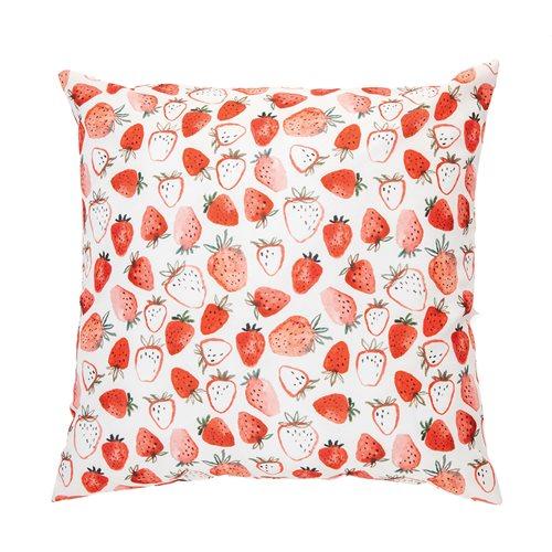 Fraisinette strawberry printed cushion