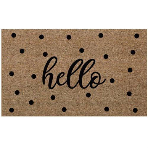 Carpette de coco Hello