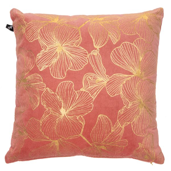 Hibiscus coral cushion
