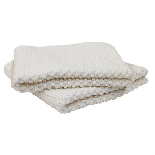Janette cream knitted dish cloth