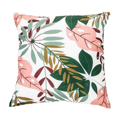 Jungle tropical leaves cushion