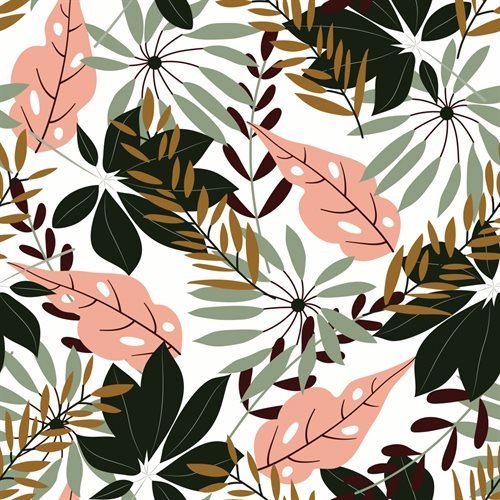 Nappe feuillage tropical Jungle