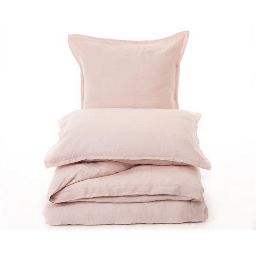 Cache oreiller rose blush Linen