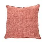 Linen Stone Wash raspberry european pillow