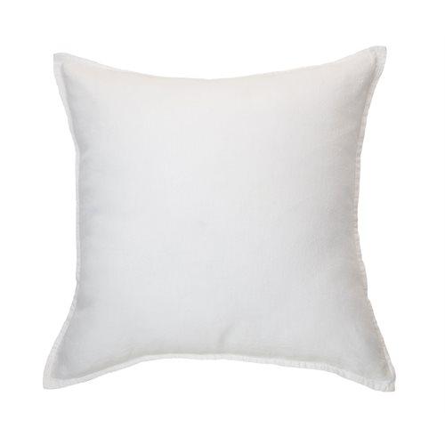 Linen Stone Wash white european pillow