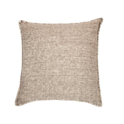 Oreiller européen gris en lin Linen Stone Wash