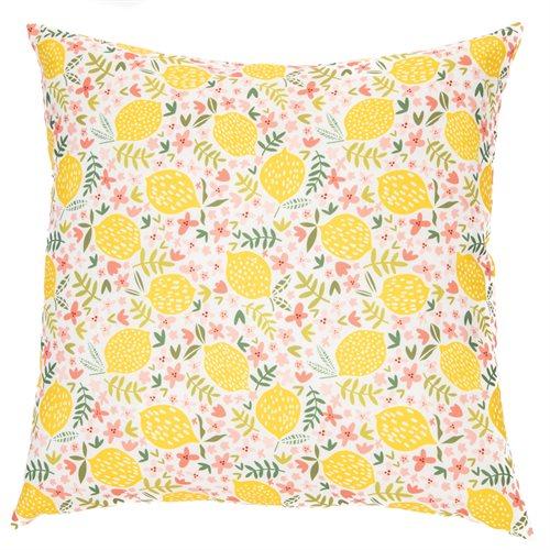 Meyer lemon printed cushion