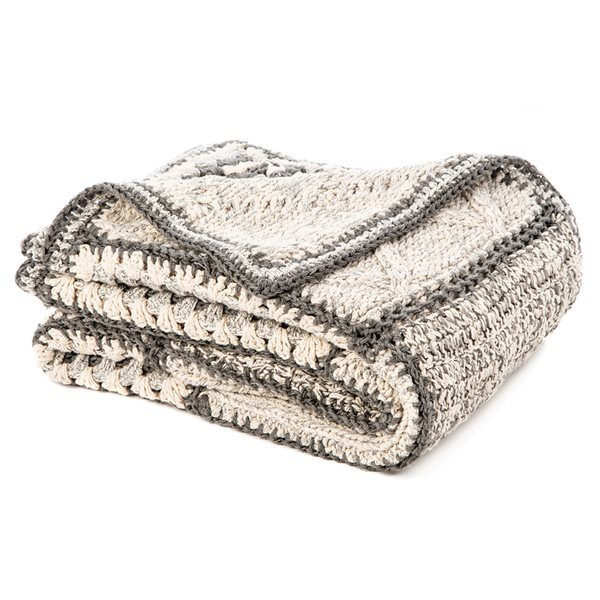 Mezze knitted throw
