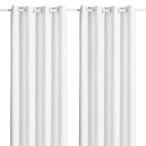 Modern white curtain panel
