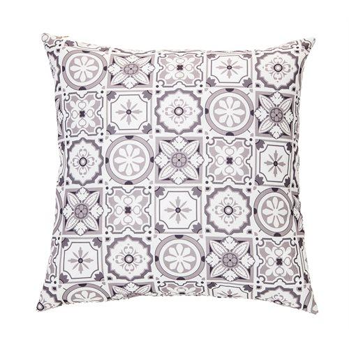 Coussin à motifs gris Mosaïque