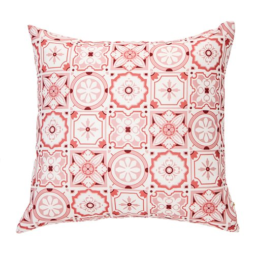 Mosaïque red cushion