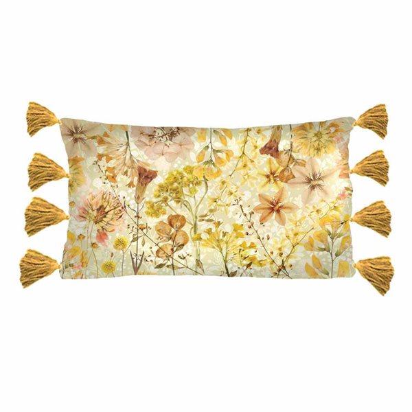 Coussin rectangulaire fleuri Philomen