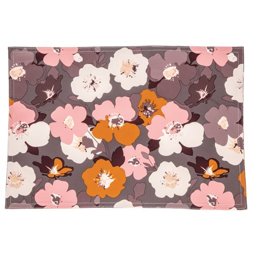 Pinky flowered placemat