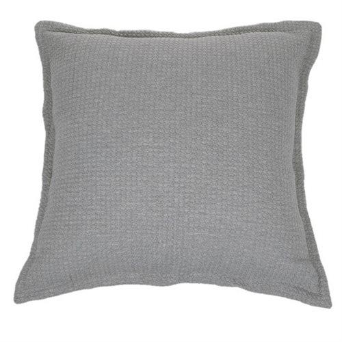 Cache oreiller europeen gris Rustic