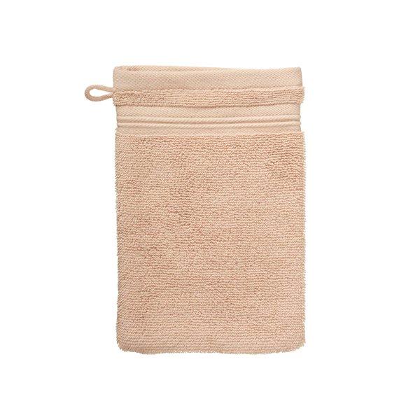 Gant de toilette rose pâle Spa