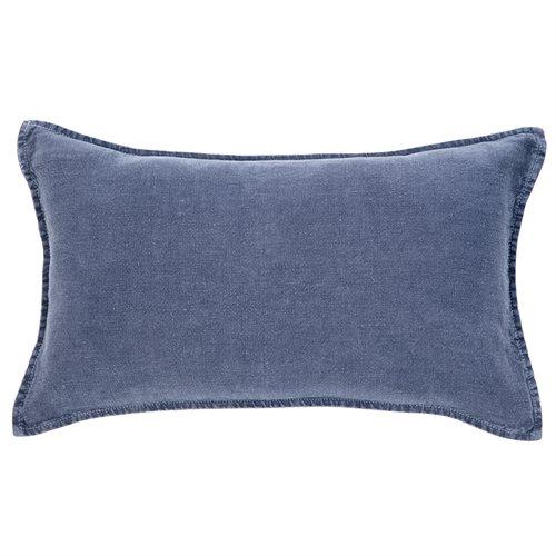 Coussin long marine Linen stone wash