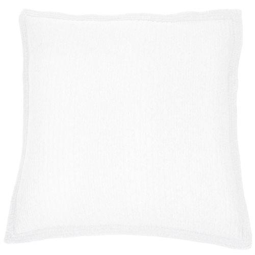 Cache oreiller européen en coton blanc Suite