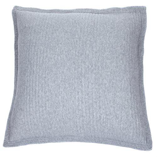 Cache oreiller européen en coton piqué gris Suite