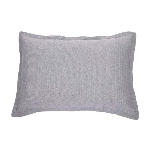 Cache oreiller en coton piqué gris Suite