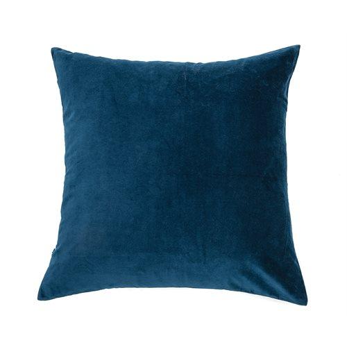 Oreiller européen velours bleu Velvet